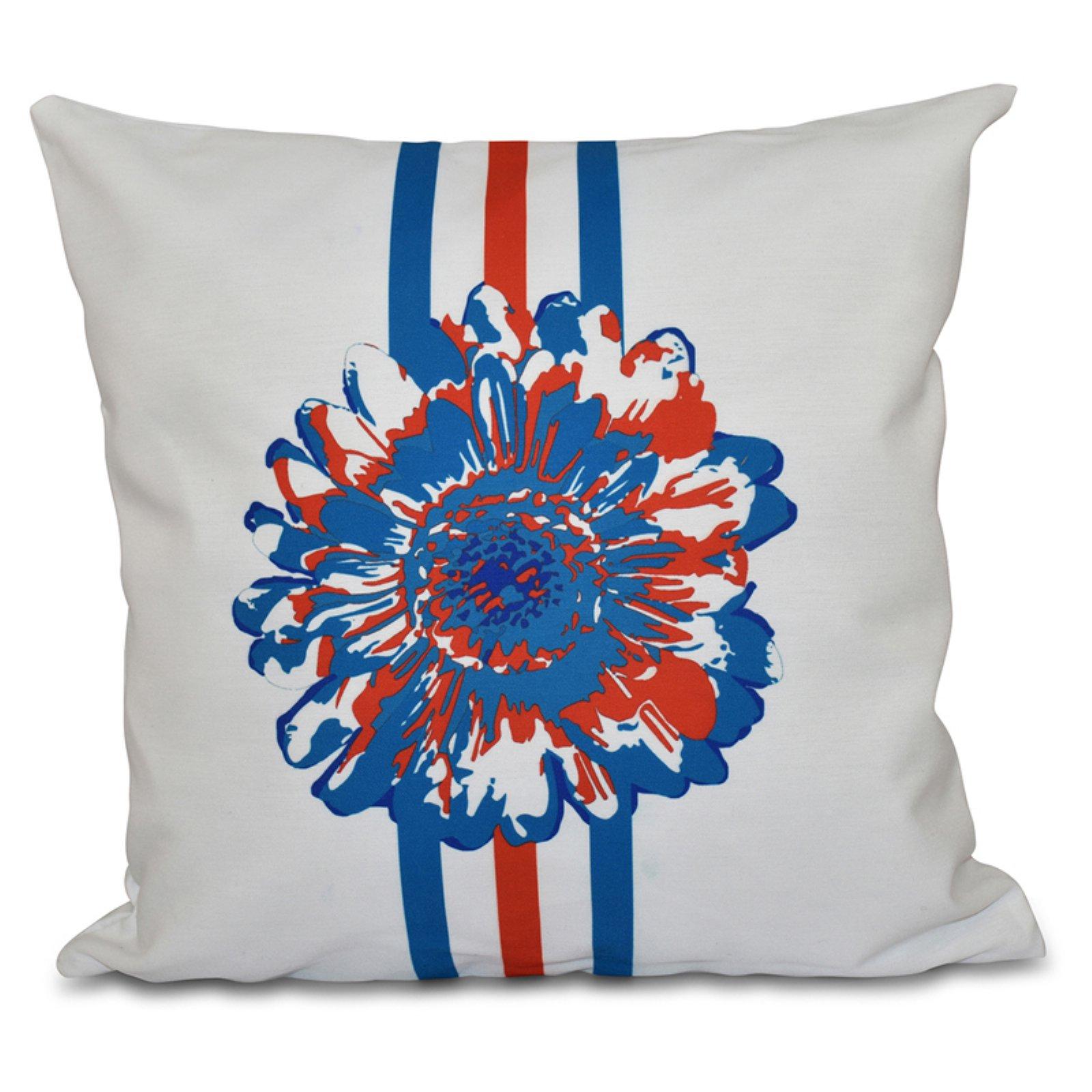 E by Design Happy Hippy Flower Child Decorative Pillow
