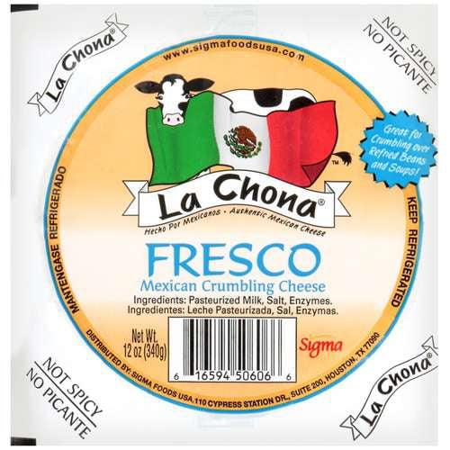 LA Chona Mexican Crumbling Cheese Fresco, 12 oz