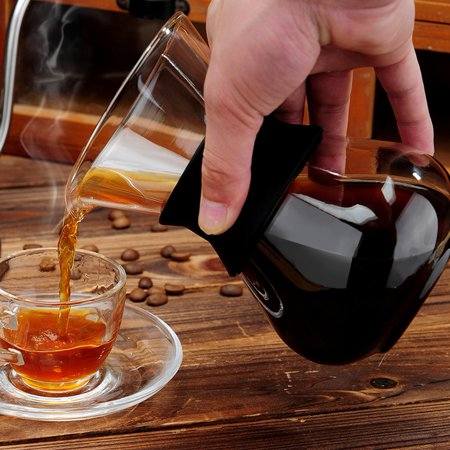 Manual Hand Drip Coffee Maker Glass Pot with Stainless Steel Filter, Hand Drip Coffee Pot, Hand Drip Coffee