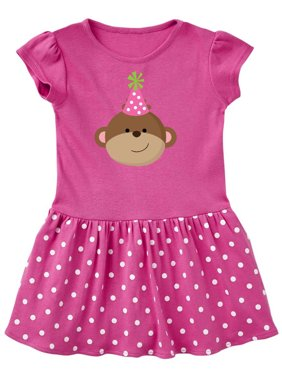 f1907c1ebde Product Image Monkey Girl Birthday Toddler Dress