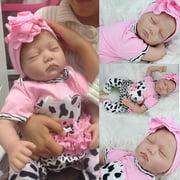 "Ktaxon 22"" Handmade Reborn Baby Toy Newborn Lifelike Silicone Vinyl Sleeping Girl Dolls"