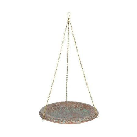 Verdigris Copper Finish Gazebo (Oak Leaf Bird Bath Bowl, Copper Verdigris )