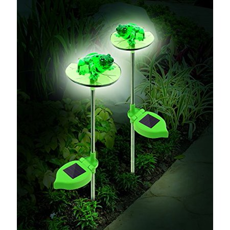 Frog Outdoor Solar Lights Set Of 2 Walmart Com