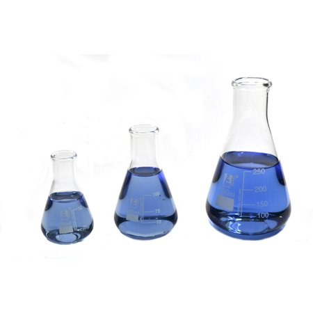 50ml Narrow Mouth Erlenmeyer Flask (Erlenmeyer Flask Set; 50ml, 100ml, 250ml ; Narrow Neck, Eisco Labs 3.3 Borosilicate)