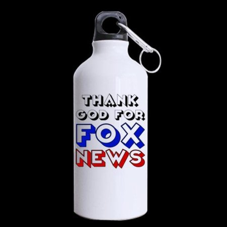 Thank God For Fox News   100  Super Strong Recycled Aluminum Material Sports Water Bottle   13 5Oz Sizes