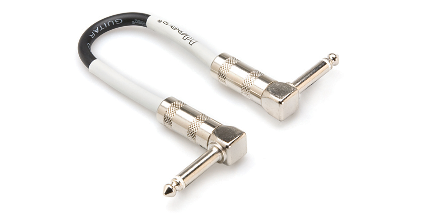 Hosa CPE-106 Guitar Patch Cable, Hosa Right-angle to Same, 6 in by Hosa Technology