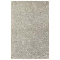 Garland Rug Soft Touch Inscription Iceberg Silver 7'x10' Indoor Floral Area Rug With Grip Tape