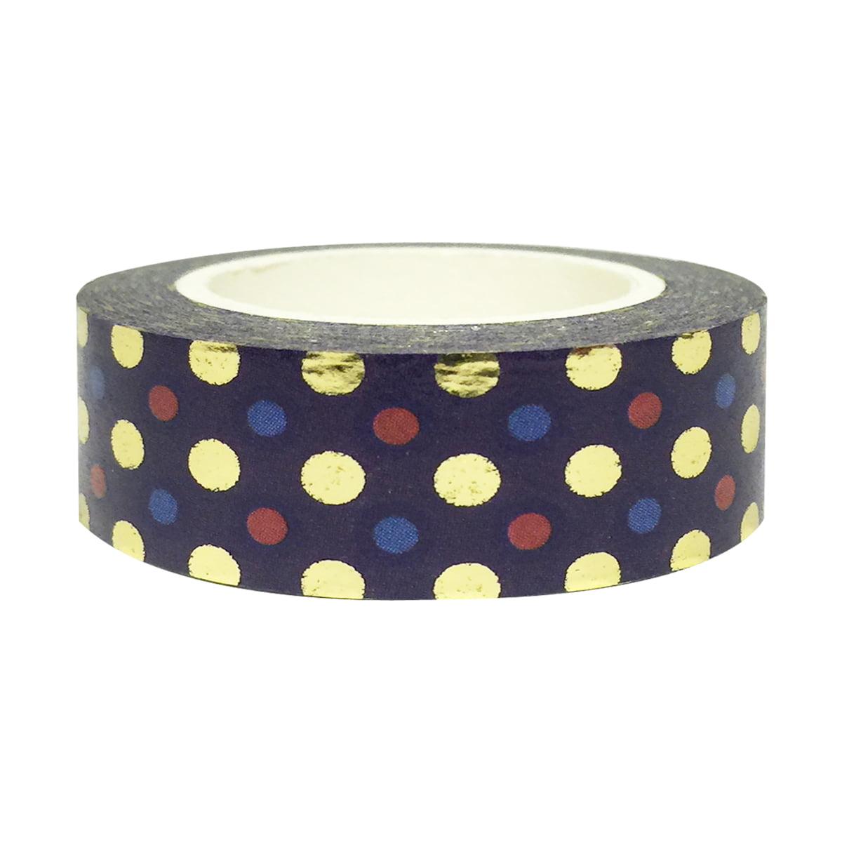 Wrapables® Colorful Washi Masking Tape, Mystery Magic Dots