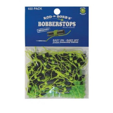 Bobber stops and beads 100 pack chartreuse for Fishing bobbers walmart