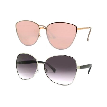 c4eaf1878d8e Time and Tru - Time and Tru Women's Metal Sunglasses 2-Pack Bundle: Square  Sunglasses and Cat-Eye Sunglasses - Walmart.com
