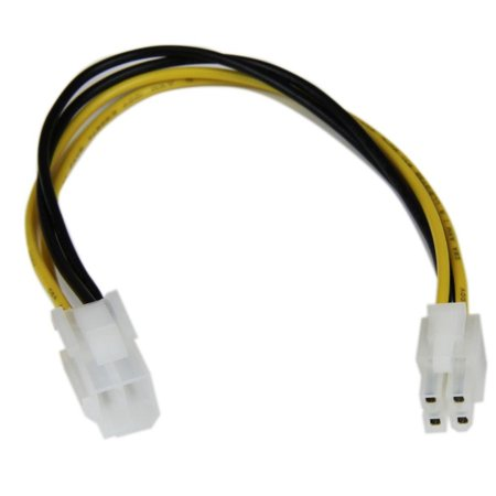 StarTech 8in ATX12V 4 Pin P4 CPU Power Extension - (1 X 8 Pin Atx 12v Power Connector)