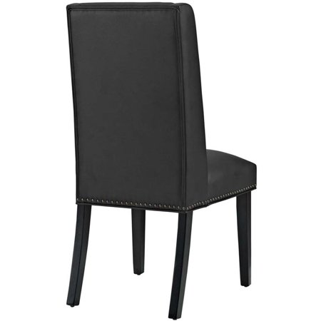 Hawthorne Collection Faux Leather Upholstered Dining Side Chair in Black - image 1 of 4