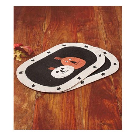 ABC Country Halloween Fall Harvest Table Decor Placemats Or Table Runner Home Decor (2 Placemats) - Abc Halloween