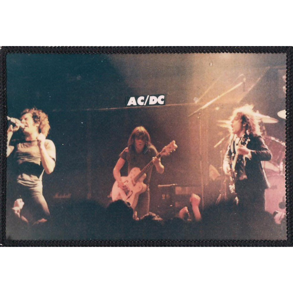 AC/DC Men's Group Shot Photo Photo Patch Black