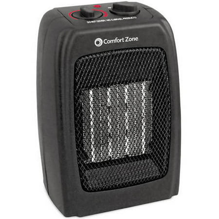 Comfort Zone Ceramic Electric Portable Space Heater Black