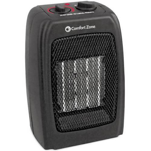 Comfort Zone Ceramic Electric Portable Space Heater, Black, CZ442WM
