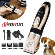 Baorun Professional Low Noise Grooming Kit Animal Pet Cat Dog Cordless Hair Trimmer Clipper Shaver Set Kit