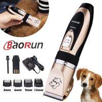 Baorun Professional Low Noise Grooming Kit Animal Pet Cat Dog Cordless Hair Trimmer Clipper Shaver Set Kit