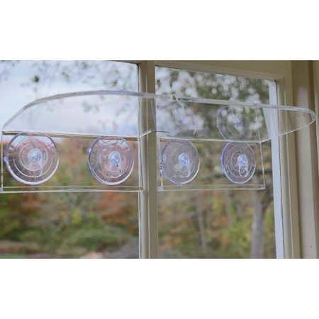 - Double Veg Ledge Suction Cup Window Shelf