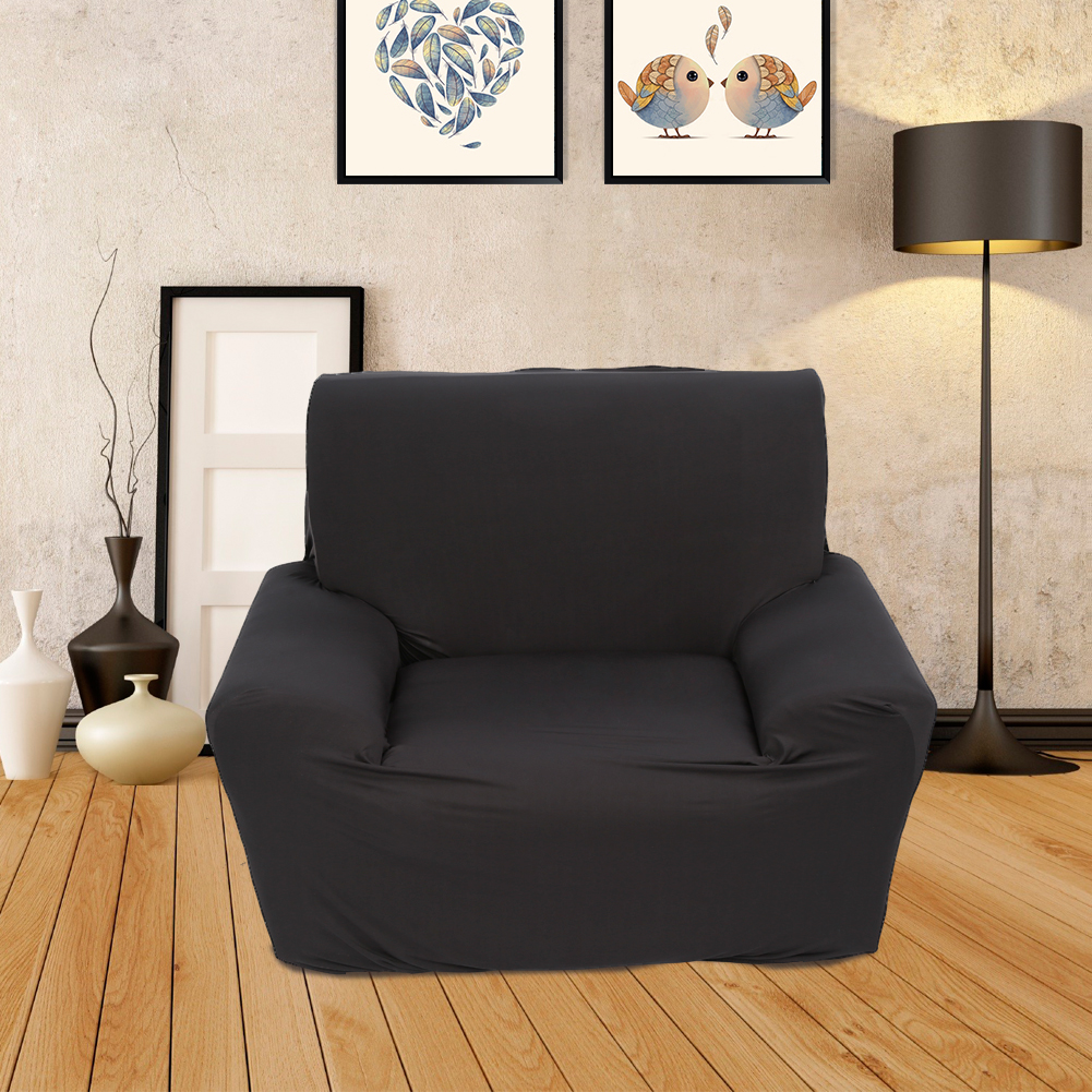 YOSOO Elastic Sofa Chair Slipcover Solid Sectional Sofa Couch Covers For  Living Room(black,one Seater)   Walmart.com