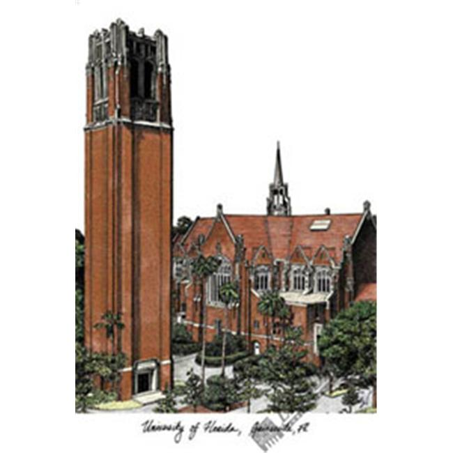 University of Florida Campus Images Lithograph Print