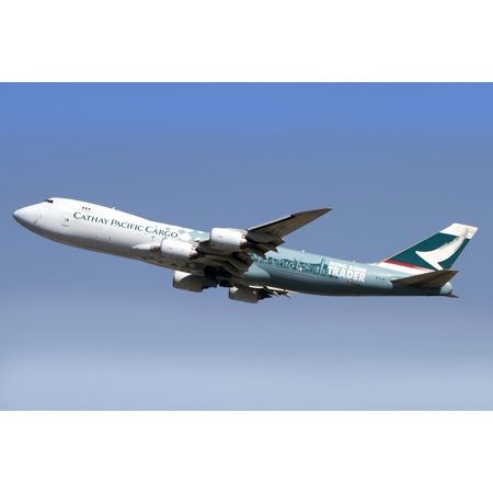A Boeing 747-800 Cathay Pacific Cargo Hong Kong Trader Canvas Art - Luca NicolottiStocktrek Images (35 x 23)