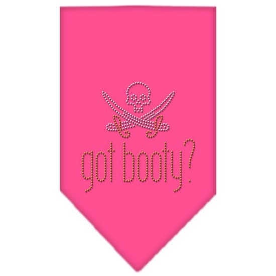 Got Booty Rhinestone Bandana Bright Pink Large