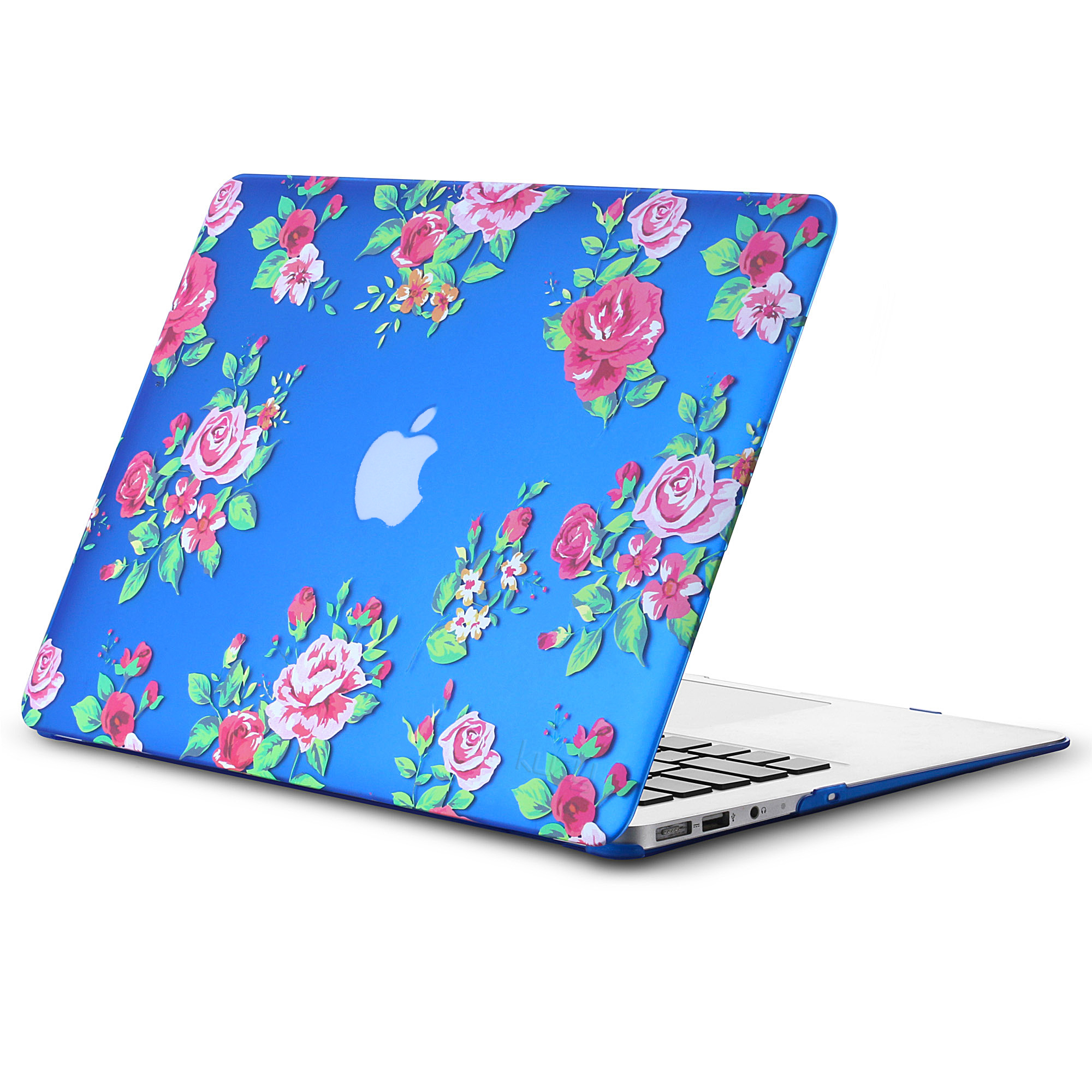 "Kuzy - AIR 13-inch Vintage Flowers Rubberized Hard Case for MacBook Air 13.3"" (A1466 & A1369) Shell Cover - Vintage Flower"