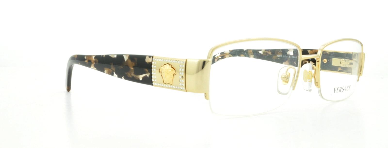 c93a06efd5 VERSACE Eyeglasses VE1175B 1002 Gold 51MM - Walmart.com