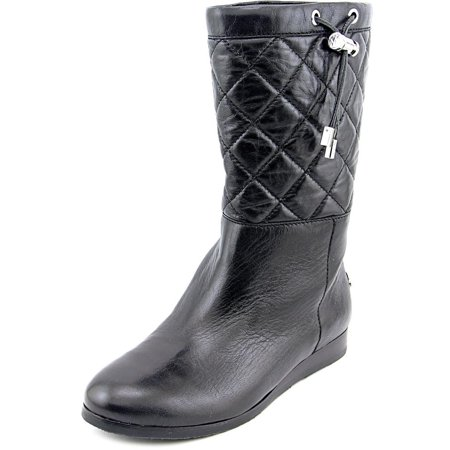 Michael Michael Kors Lizzie Quilted Mid Boot   Leather  Mid Calf Boot (Michael Kors Boots For Big Kids)