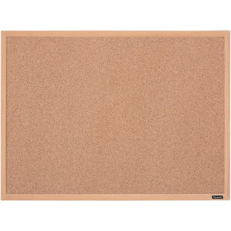 Quartet Cork Bulletin Board 17 x 23 Inches Oak Finish Frame (35-380342Q) - March Bulletin Board