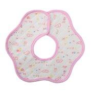 Horypt 100% Cotton Thickened Three-layer Cotton Printing Baby Bibs Waterproof octagonal Children's Saliva Towel