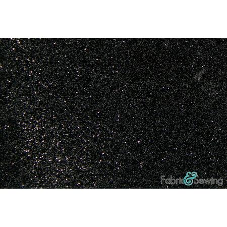 "Black and Silver Grey Laminated Shiny Sparkle Glitter Faux Fake Leather Vinyl Fabric Polyurethane 58-60"""