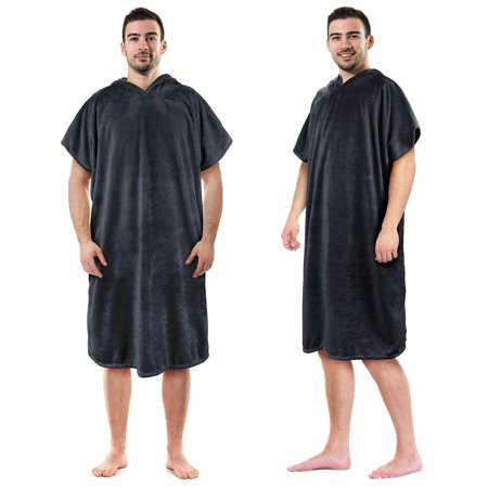 Hooded Poncho Towels Changing Robe for Adult Surfer Swimmer Outdoor Beach By Tirrinia - Swimmers Towel