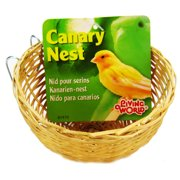 "Hagen Living World Wicker Canary Nest 1 Nest - (4"" Diameter x 2\"" High)"