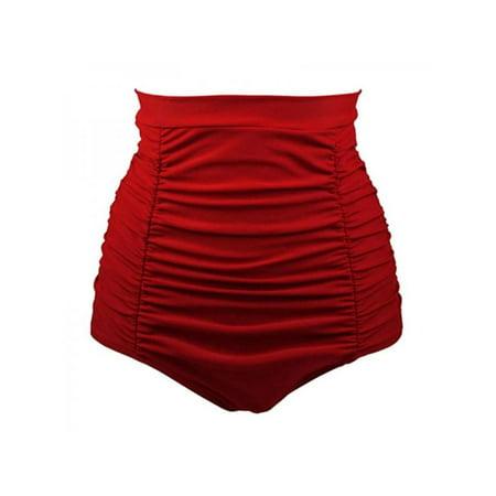 Floral Swim Brief (Topumt Women High Waist Bikini Brief Bottom Retro Sports Swim Shorts Swimming Beach Swimwear Tank Pants Party Summer )