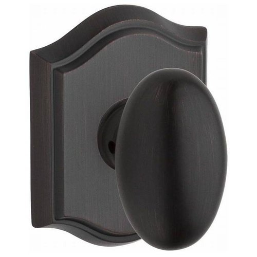 Baldwin Ellipse Single Dummy Door Knob with Traditional Arch Rose