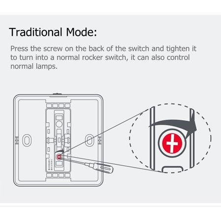 Yeelight Wirelessly Smarts Switch 16A Light Controller Compitable with Mijia Mi Home AC250V/16A Triple Button - image 5 de 7
