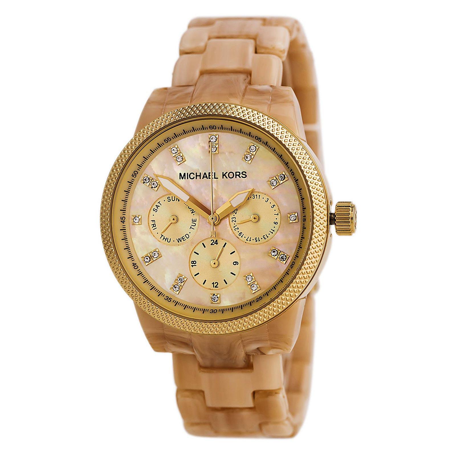 Michael Kors MK5039 Women's Mother of Pearl Gold Tone Watch