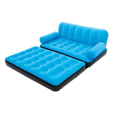 Bestway Multi Max Inflatable Air Couch or Double Bed with AC Air Pump, (Best Way To Go To Bed With Wet Hair)
