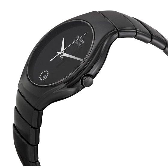 2b7110a2ede Rado - Rado True Jubile Black Ceramic Mens Watch Calendar Quartz ...