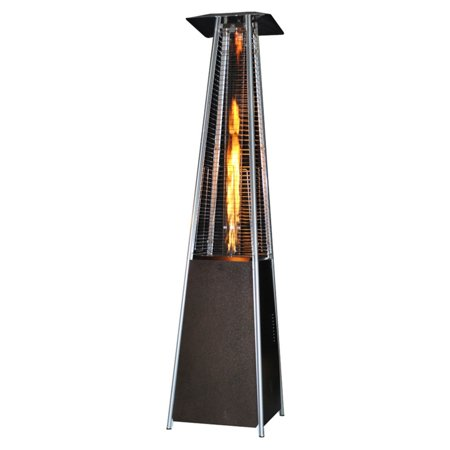 SUNHEAT Contemporary Square Glass Tube Propane Patio Heater