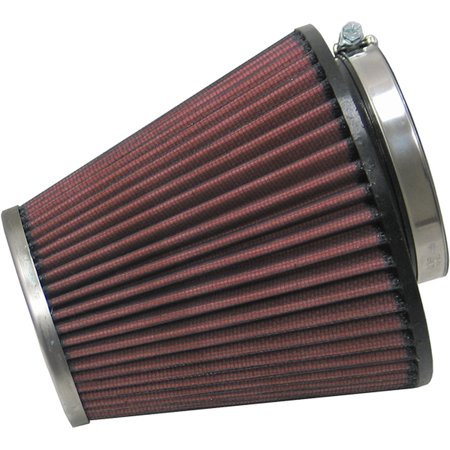 K&N RC-1637 Universal Clamp-On Air Filter: Round Tapered; 3.25 in (83 mm) Flange ID; 5.438 in (138 mm) Height; 5.75 in (146 mm) Base; 3.5 in (89 mm)