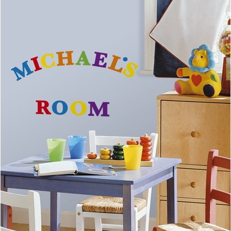 Express Yourself Colorful Primary Alphabets Peel & Stick 73 Wall Decals School Nursery Decor (Self Stick Wall Decal Stickers)