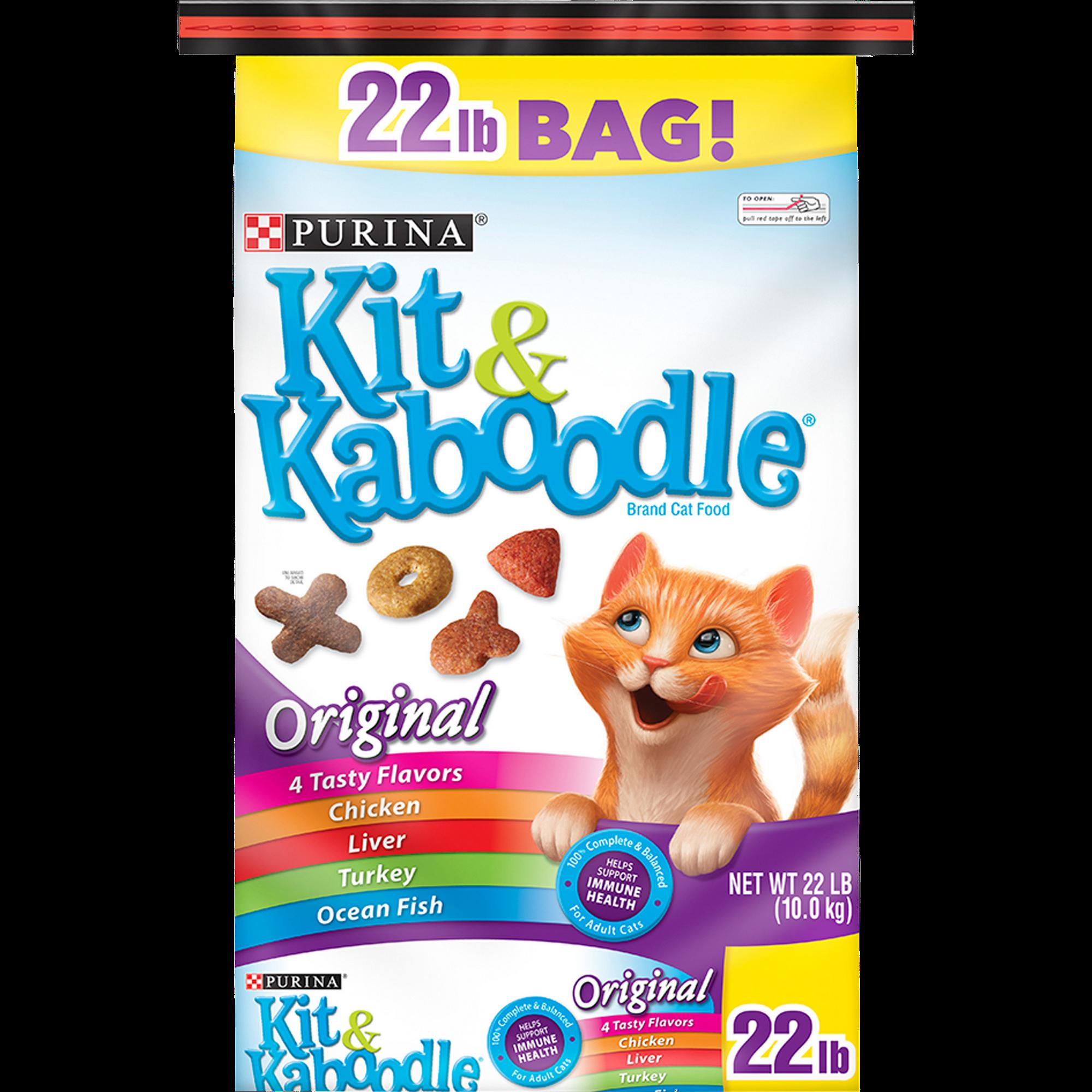Purina Kit Kaboodle Dry Cat Food Original 22 Lb Bag Walmart Com Walmart Com
