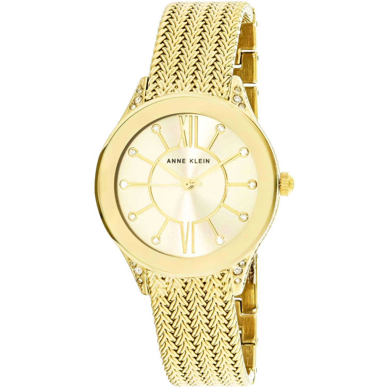 Anne Klein Women's AK-2208CHGB Gold Metal Quartz Fashion Watch