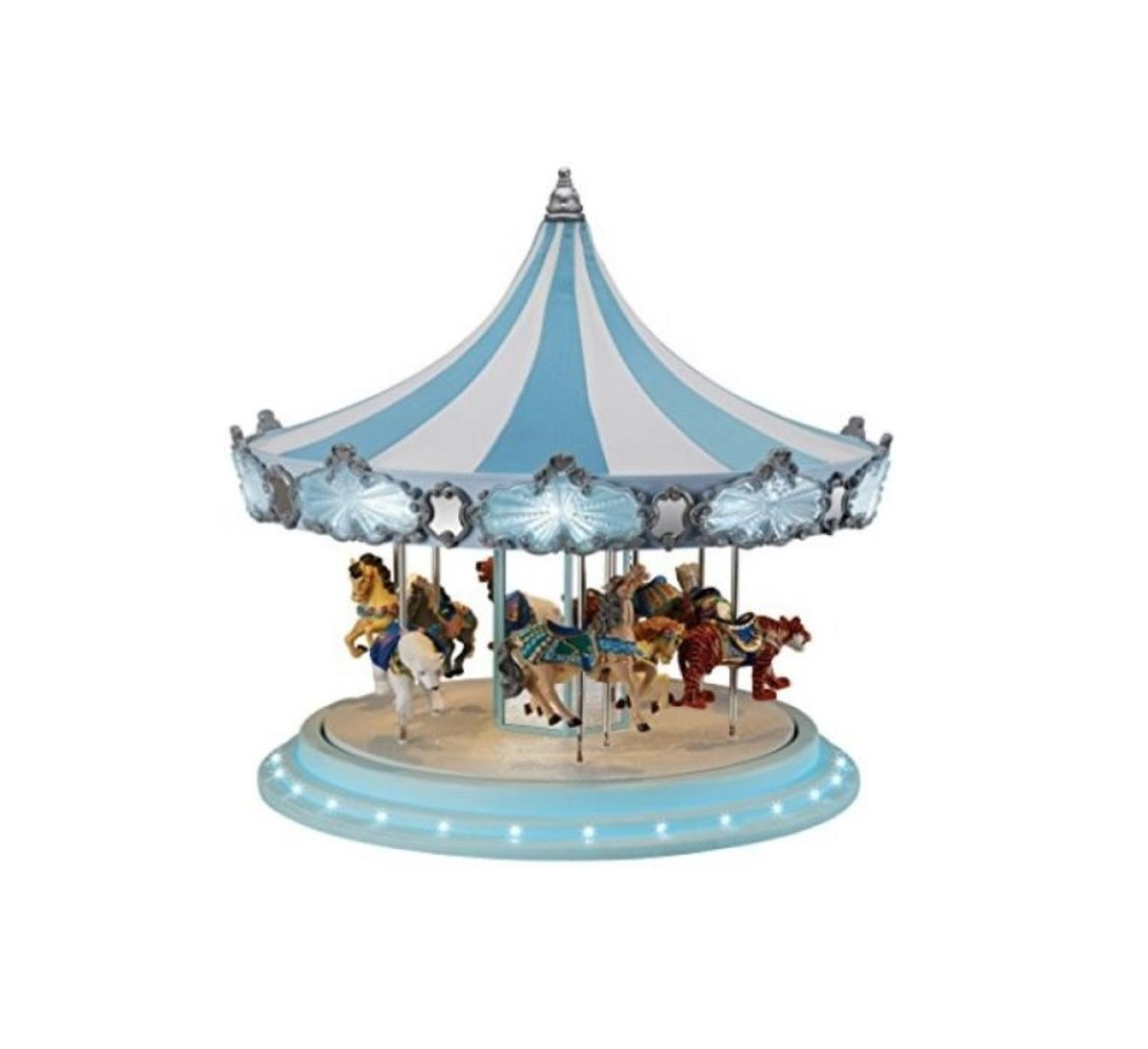 mr christmas animated musical frosted carousel decoration 79151