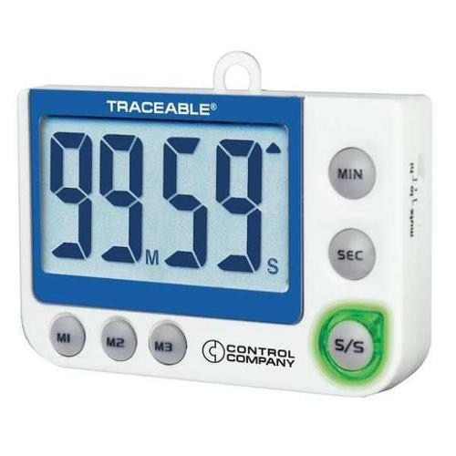 TRACEABLE 5013 LED, Flash, Big Digit, Alarm Timer