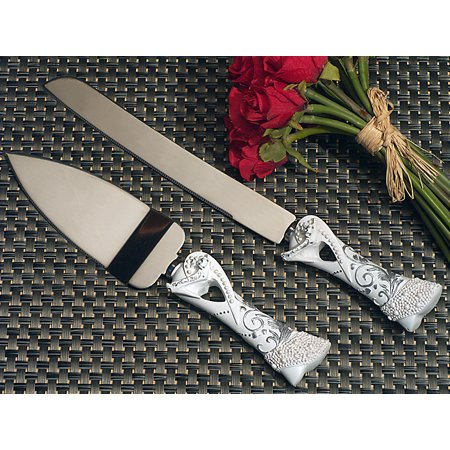 Belle of The Ball shoe design cake and knife set Butterfly Design Cake Knife