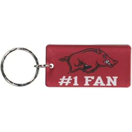 Arkansas Razorbacks #1 Fan Keychain - No Size (A To Z Alma Arkansas Store Hours)